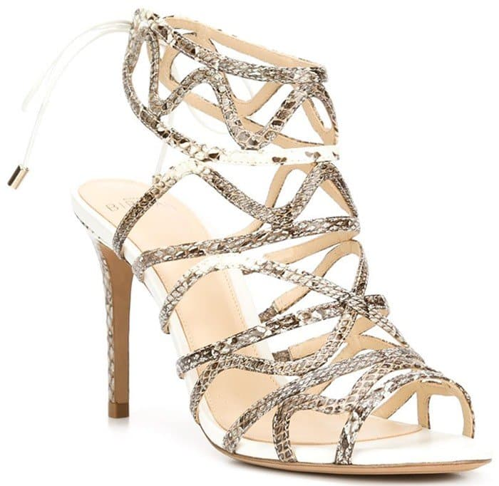 Alexandre Birman Nim Natural and white leather sandals