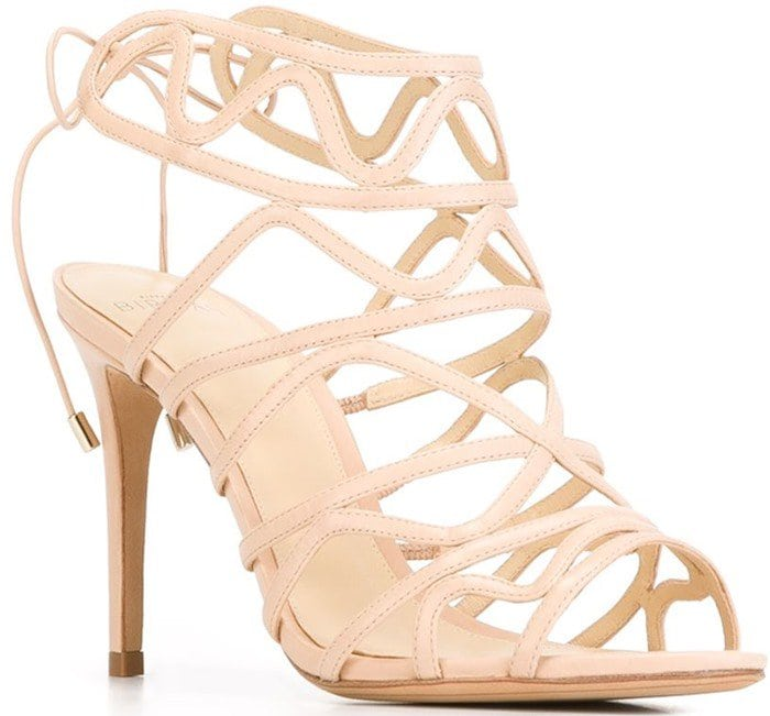 Alexandre Birman Nim Nude Leather Sandals