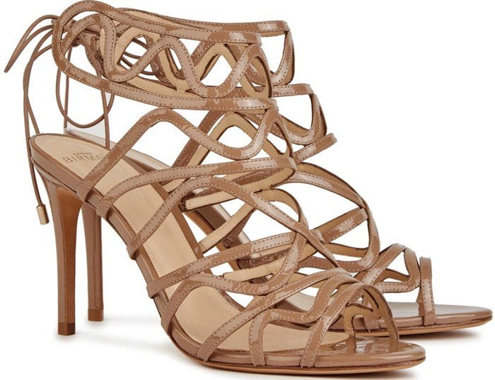 Alexandre Birman Nim almond patent leather sandal