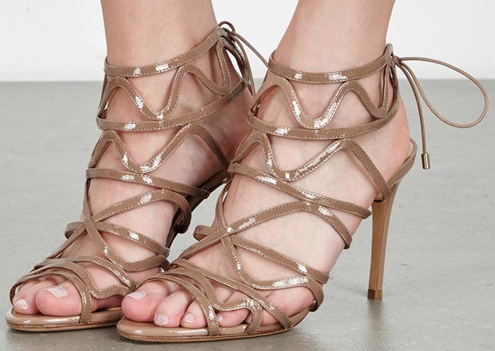 Alexandre Birman Nim almond patent leather sandals