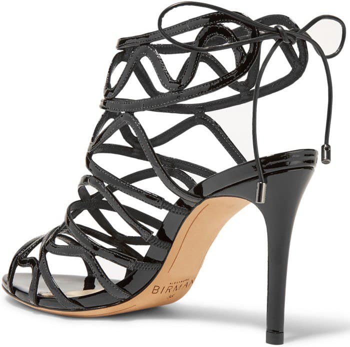 Alexandre Birman Nim cutout patent-leather heels