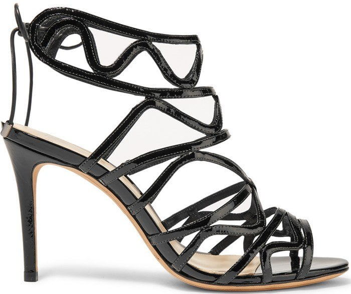 Alexandre Birman Nim cutout patent-leather sandal