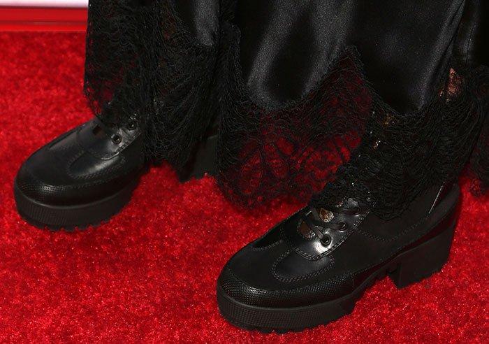 Ashley Tisdale In Louis Vuitton Palm Canyon Desert Boots