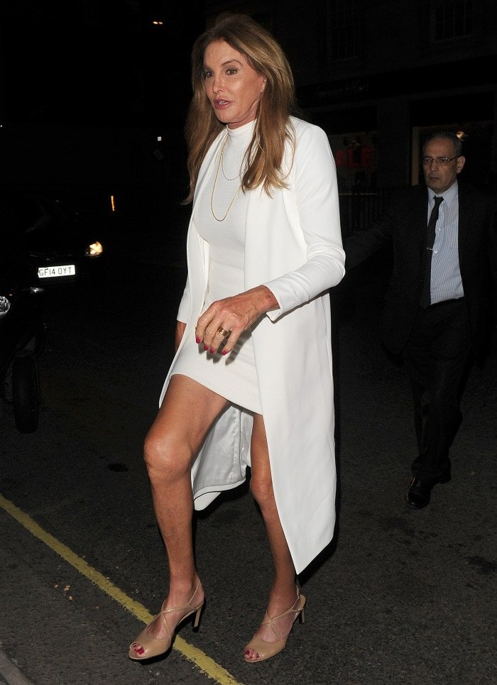 Caitlyn Jenner out in london white