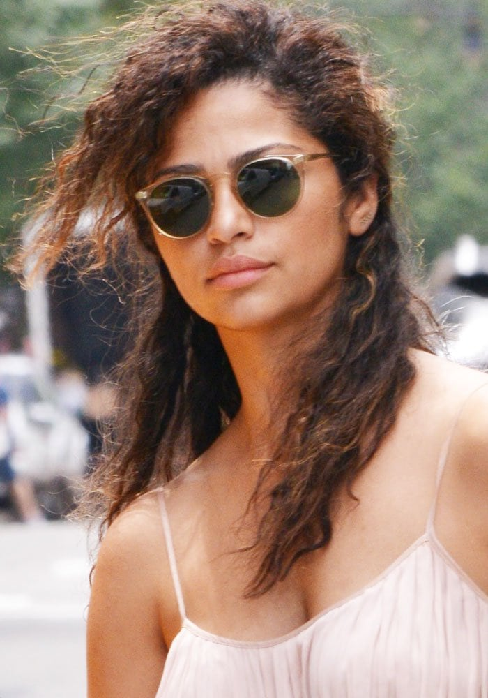 Camila Alves showed off her gorgeous shoulders in New York