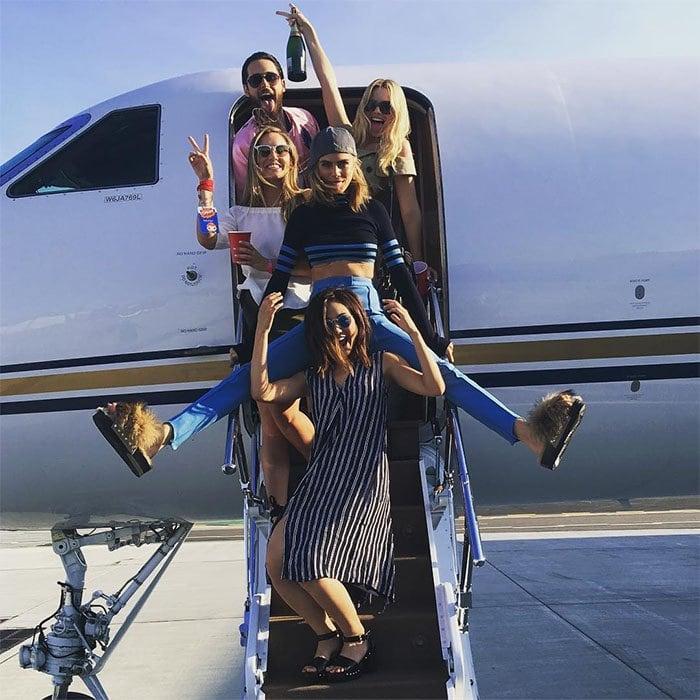 Cara Delevingne Suicide Squad private plane