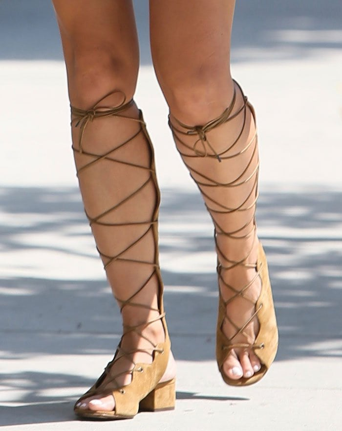 Cara-Santana-Saint-Laurent-Babies-Knee-High-Gladiator-Sandals