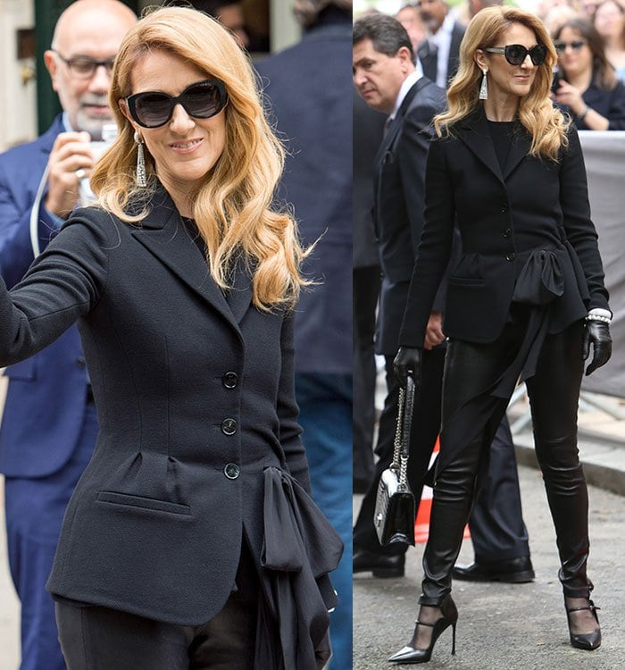 Celine Dion at Christian Dior fashion show during Paris Fashion Week Haute Couture Autumn/Winter 2016/17 in Paris, France on July 4, 2016