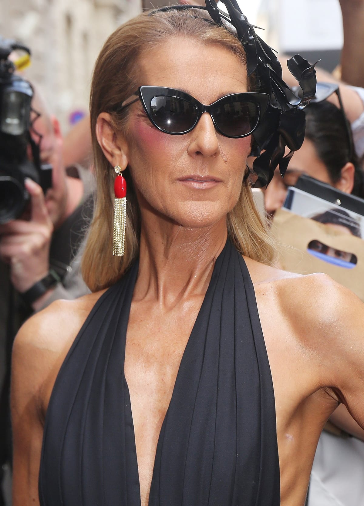 Celine Dion appeared thinner than usual at the Schiaparelli Fall '19 couture show in Paris