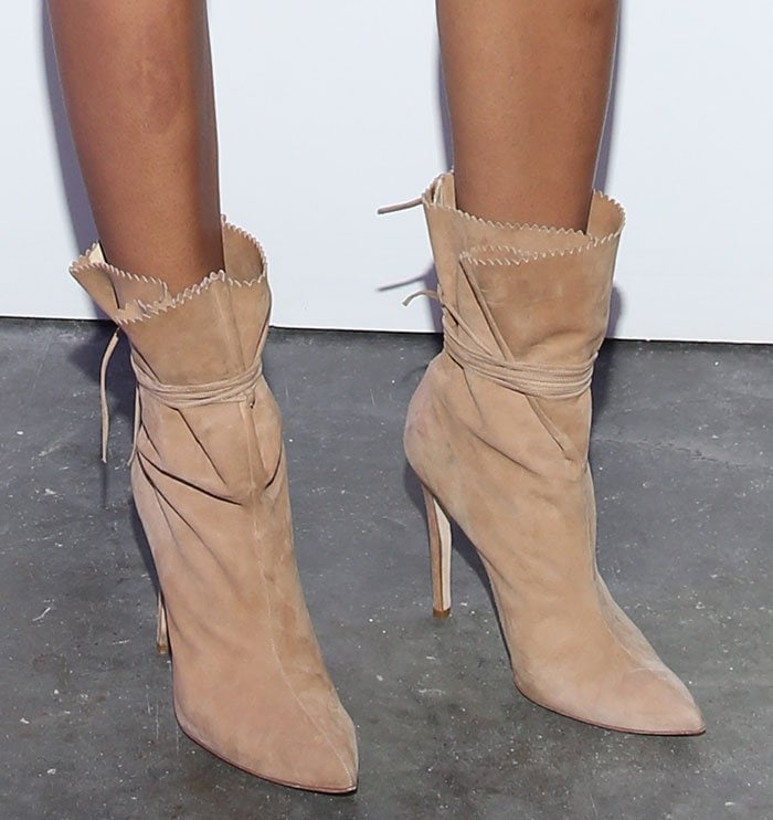 Chanel-Iman-wraparound-suede-boots