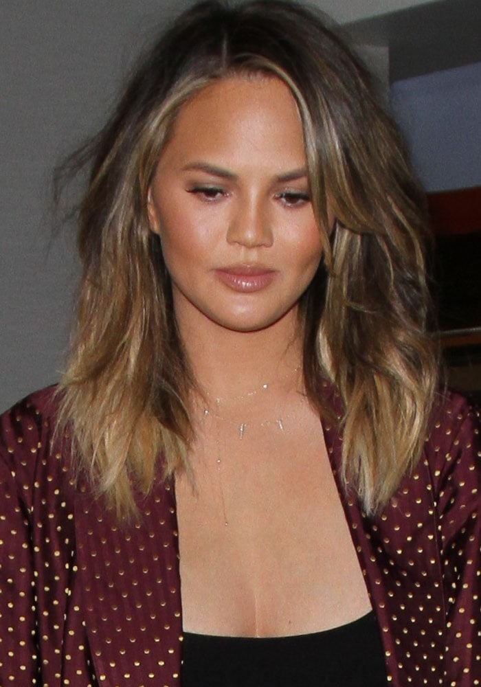 Chrissy Teigen Husband Daughter LAX Gianvito Rossi 1