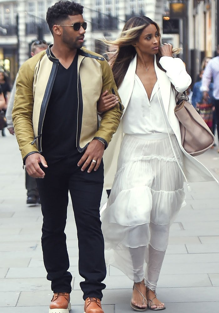 Ciara Newlywed London Stuart Weitzman 3