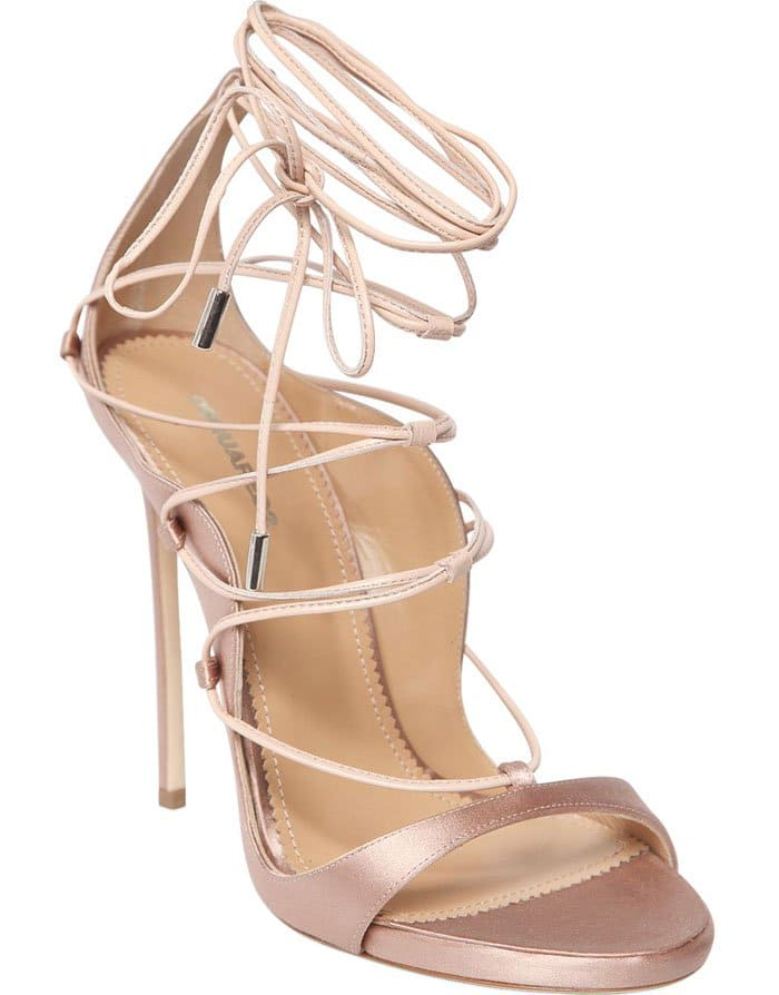 DSquared2 Riri Rose Leather Sandals