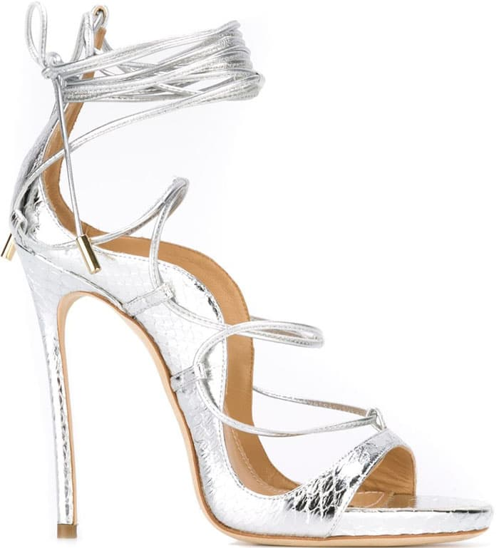 DSquared2 Riri Silver Leather Sandals