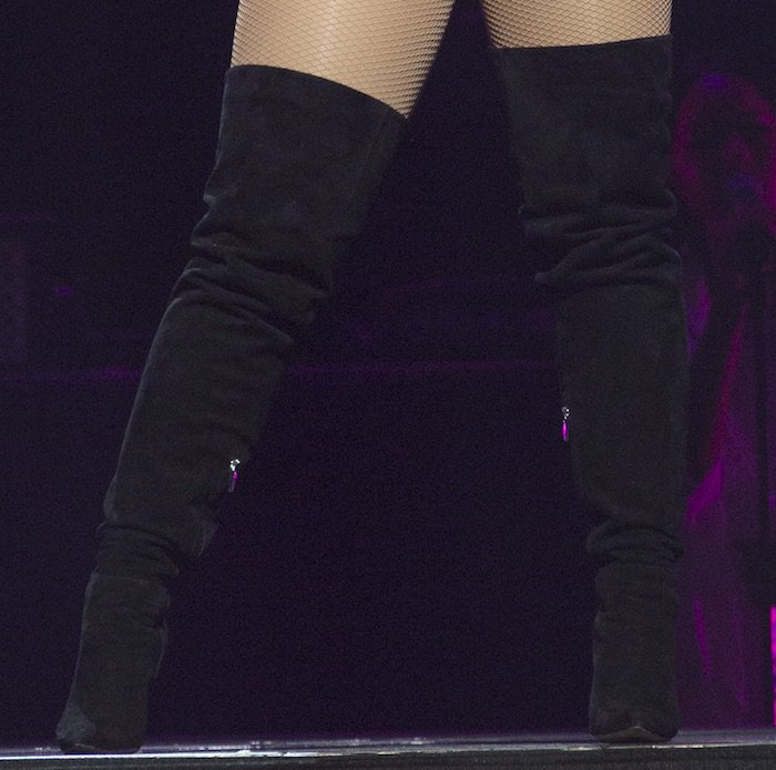 Demi Lovato's thigh-high boots