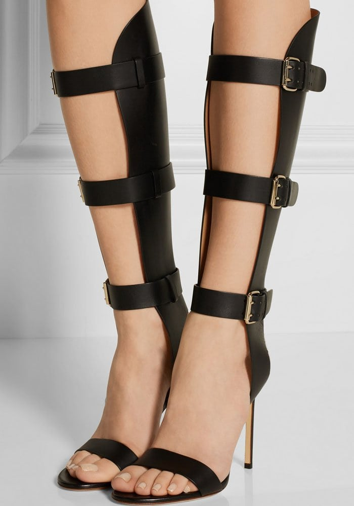 Francesco Russo Buckled Leather Sandals 1