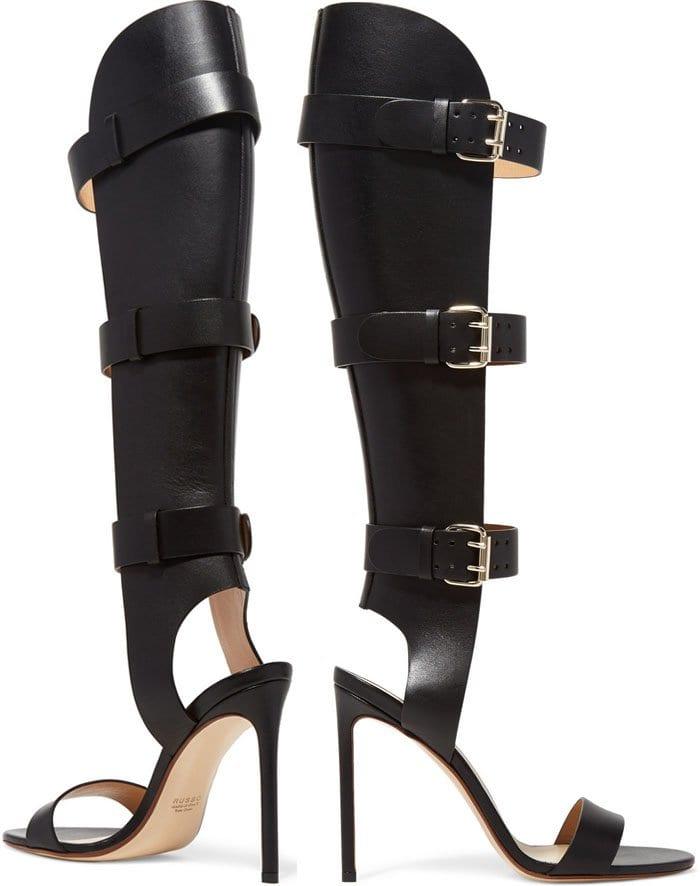 Francesco Russo Buckled Leather Sandals 2