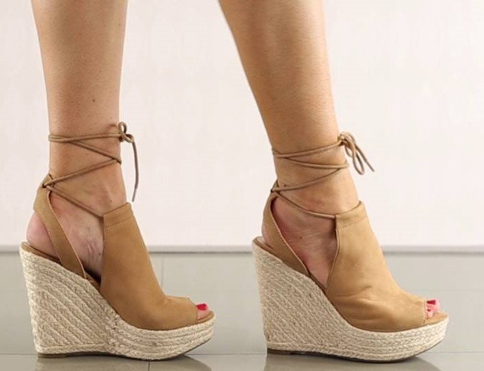 GUESS Orristi Tan Suede Wedges