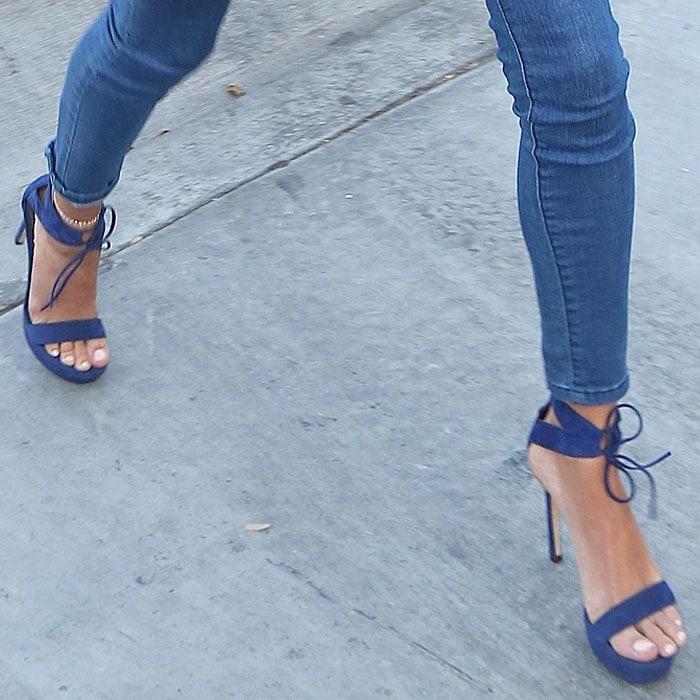 Hailey Baldwin Stuart Weitzman Tynela sandals