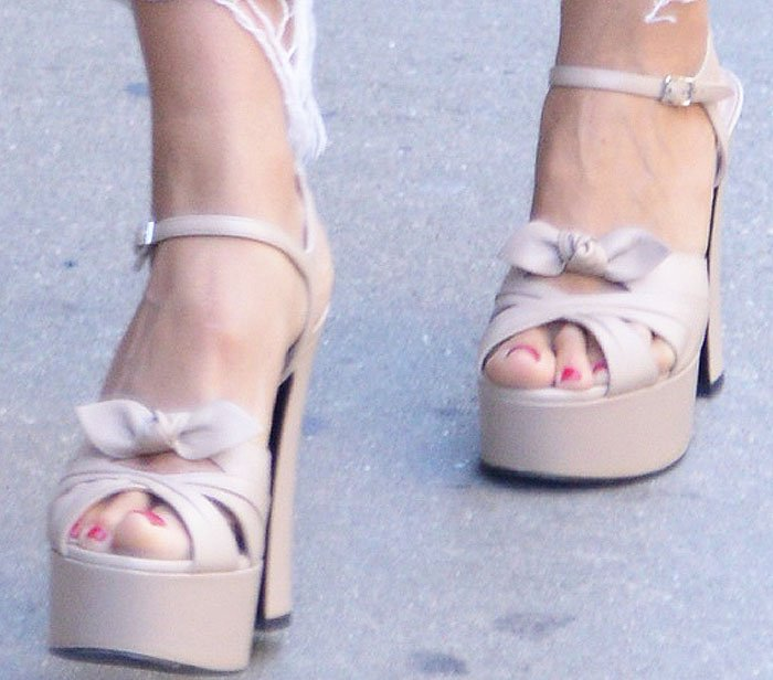 Heidi Klum Platform NYC Lanvin Saint Laurent 2
