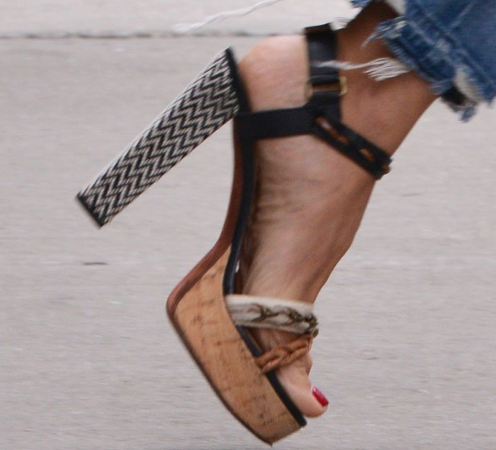 Heidi Klum Platform NYC Lanvin Saint Laurent 4