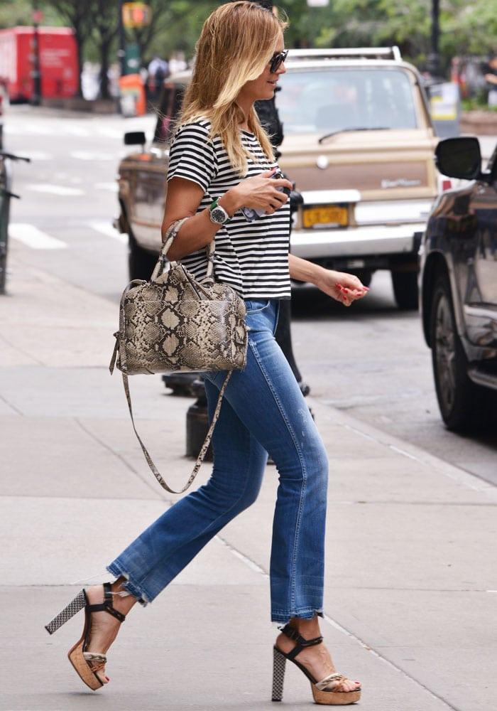 Heidi Klum Platform NYC Lanvin Saint Laurent 5
