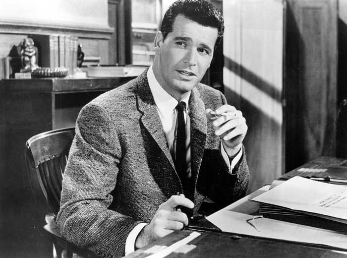 James Garner as the title character in Cash McCall, a 1960 American romantic drama film