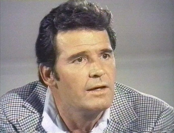 James Garner as Jim Rockford in The Rockford Files, an American detective drama television series that aired on the NBC network between September 13, 1974, and January 10, 1980