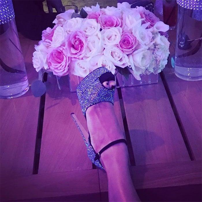 Jennifer Lopez birthday Brian Atwood Tribeca Swarovski