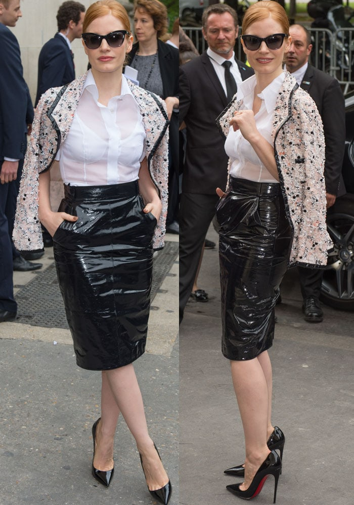 Jessica Chastain PFW Chanel Christian Louboutin 3