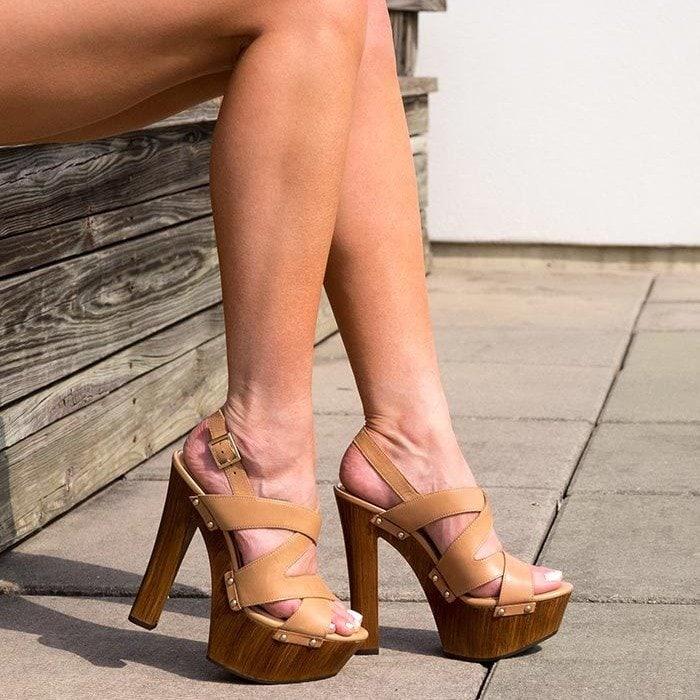 Jessica Simpson 'Damelo' Platform Sandal Buff