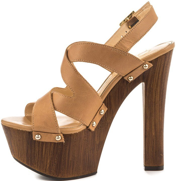 Jessica Simpson 'Damelo' Platform Sandal in Buff