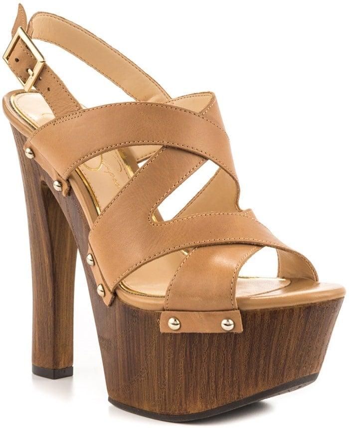 Jessica Simpson 'Damelo' Platform Sandals in Buff