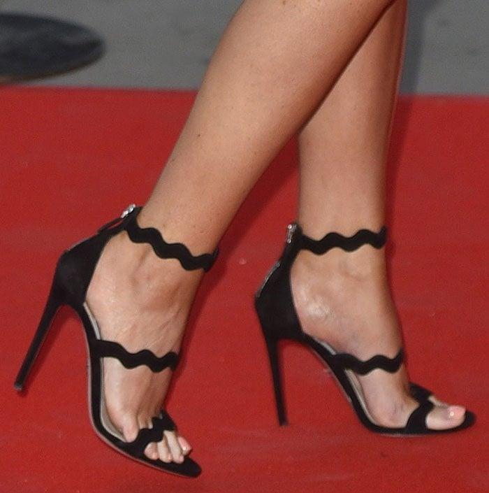 Jessica-Wright-Prada-triple-strap-sandals