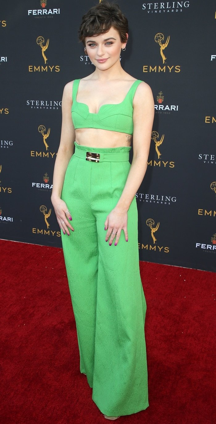 Joey King flaunts her 5′ 3'' (160 cm) frame at the Television Academy's Performers Celebration