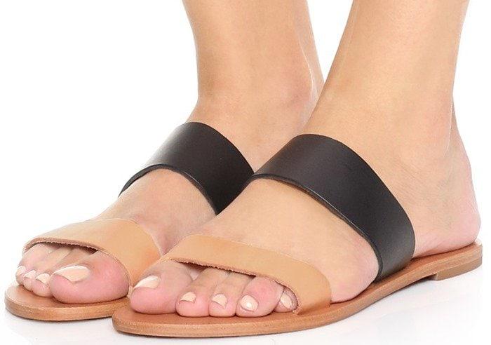 Joie A La Plage Sable Two Band Sandals Black Natural