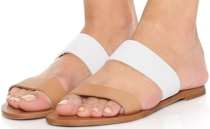Joie A La Plage Sable Two Band Sandals White Natural