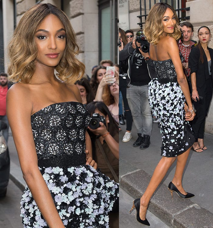 Jourdan Dunn at Ralph & Russo fashion during Paris Fashion Week Haute Couture Autumn/Winter 2016/17 in Paris, France on July 4, 2016