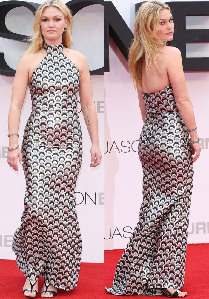"Julia Stiles at the European premiere of ""Jason Bourne"" held at the Odeon Leicester Square in London"