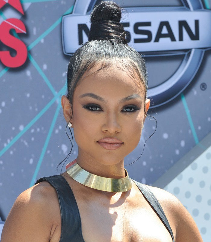 Karrueche Tran at the 2016 BET Awards held at the Microsoft Theater in Los Angeles on June 26, 2016