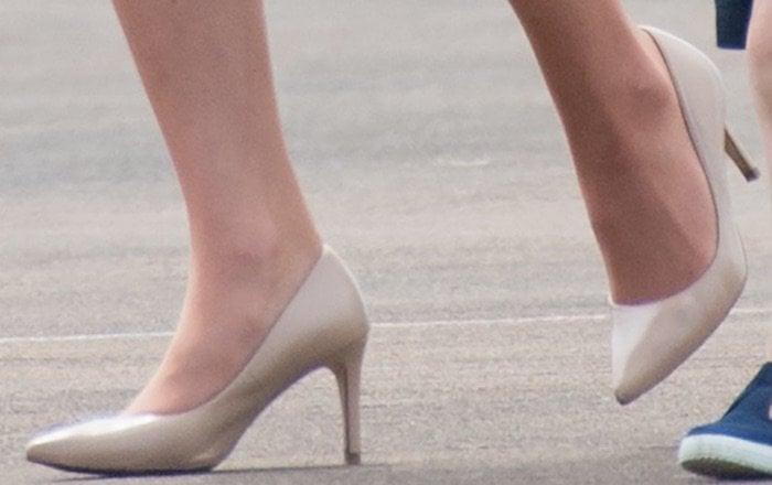 Kate Middleton International Air Tattoo shoes