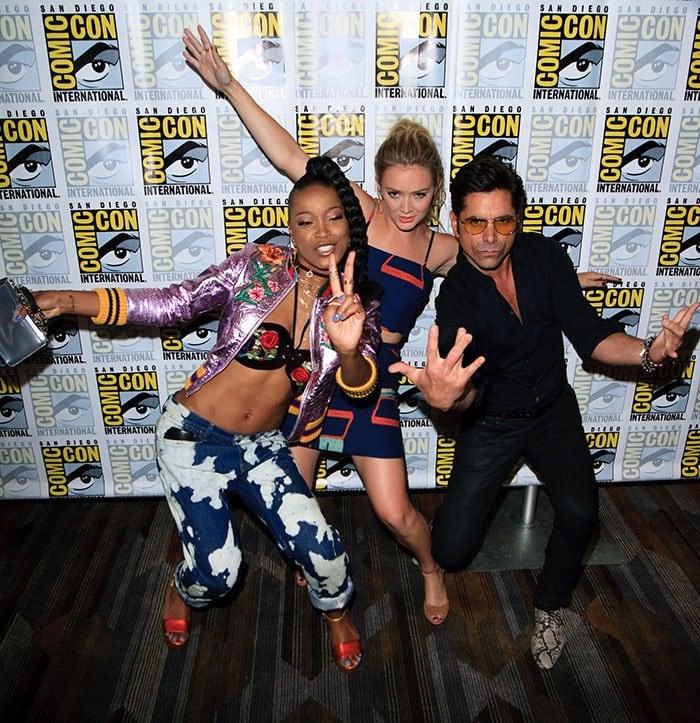 KeKe-Palmer-Billie-Lourd-John-Stamos-Comic-Con