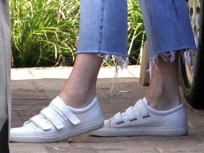 Kendall Jenner Kenneth Cole Kingvel Velcro Sneakers 2