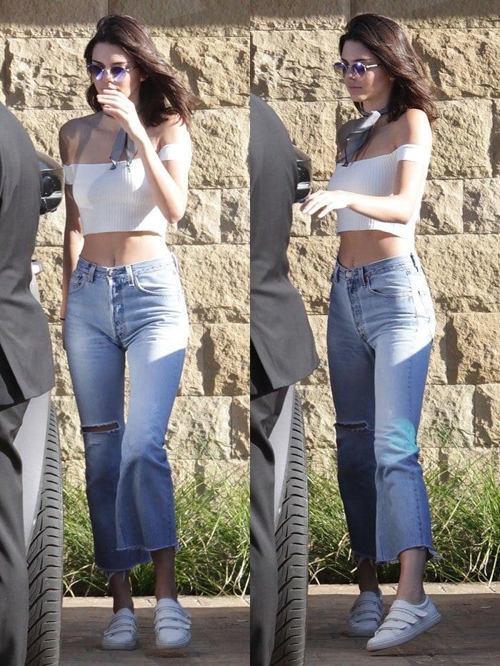 Kendall Jenner Kenneth Cole Kingvel Velcro Sneakers