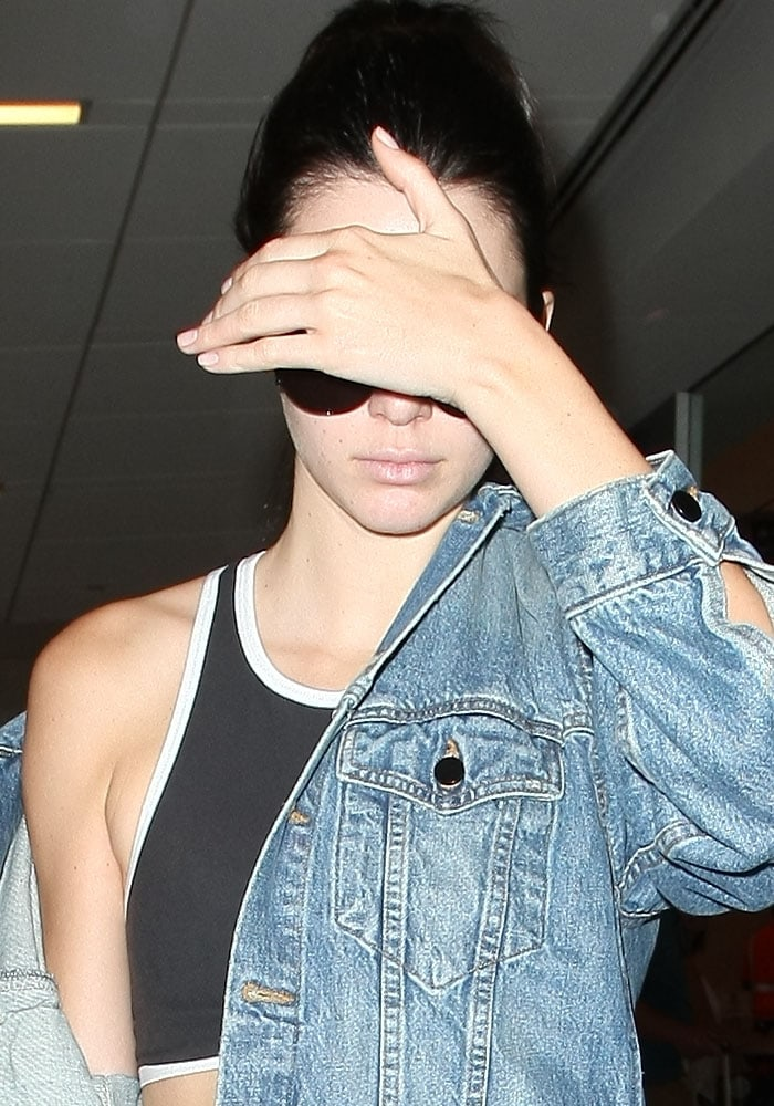 Kendall Jenner LAX Denim Sportswear Kenneth Cole 1
