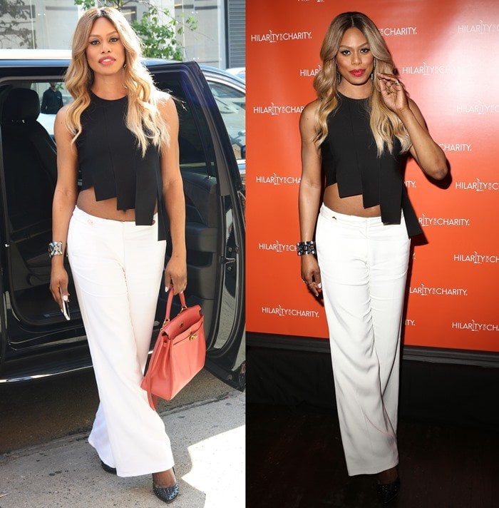 Laverne Cox out and about in NYC