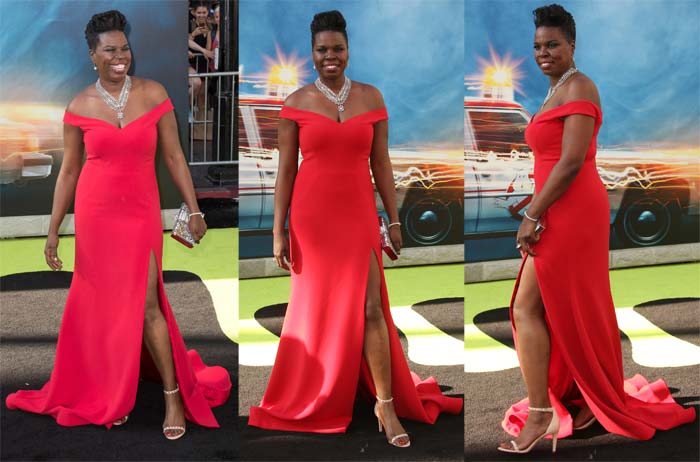 """Leslie Jones in a Christian Siriano gown for the """"Ghostbusters"""" premiere"""