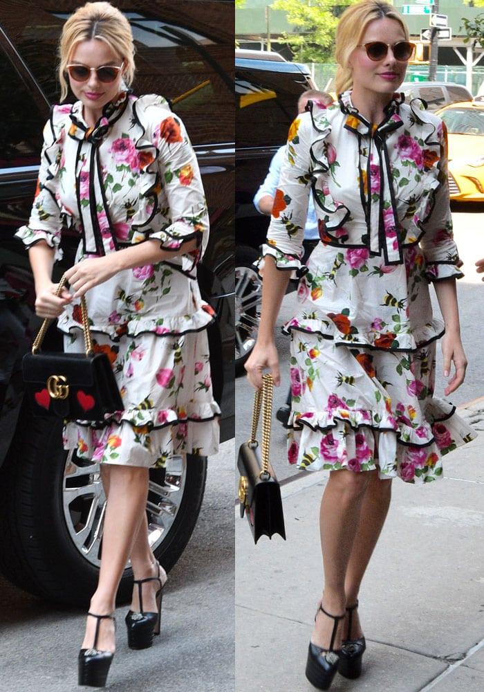 Margot Robbie Hotel Manhattan Gucci 3