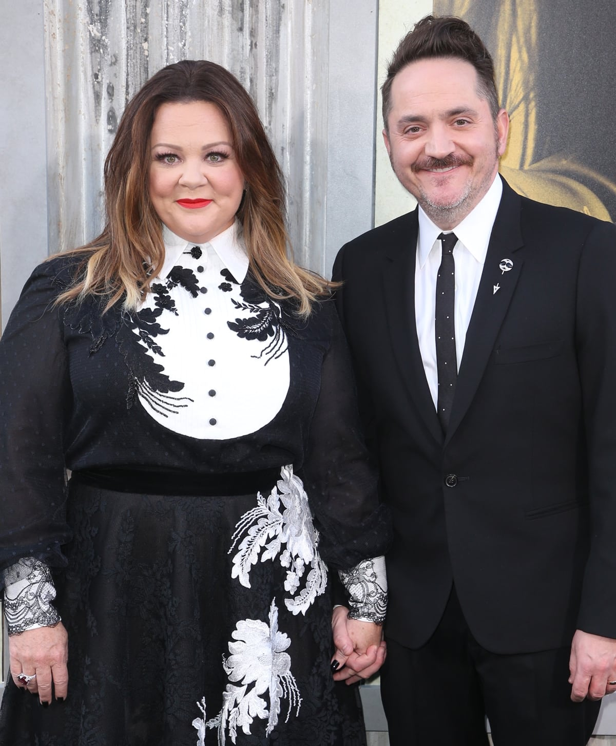 Melissa McCarthy and her husband Ben Falcone at the premiere of The Kitchen
