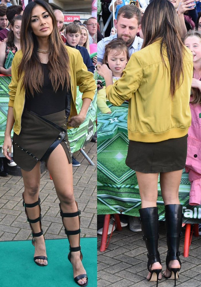 Nicole Scherzinger X Factor Dublin Francesco Russo 2
